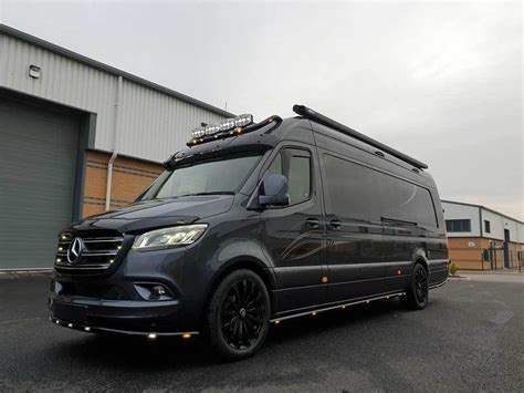 A single arching line, termed a one bow line, extends from the rear of the front wheel well, defining the roof line and sweeping through the rear of the car. Extra Long Wheel Base Mercedes Sprinter Conversion - Mclaren Sports Homes Ltd | Luxury Sporthome ...