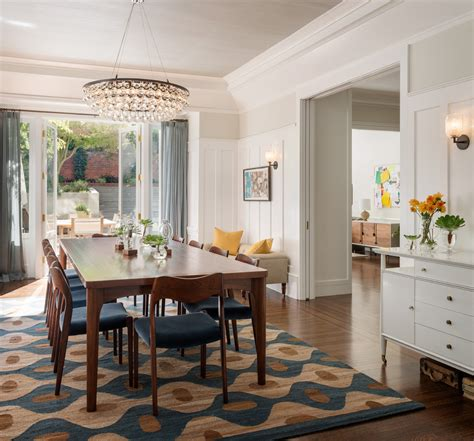 gorgeous shag rug  dining room transitional  kitchen