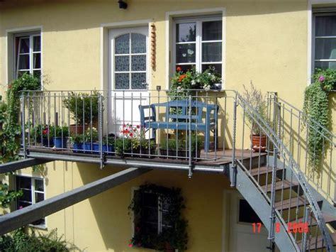 balkon mit treppe bauschlosserei amf arlt aus silbitz th 252 ringen