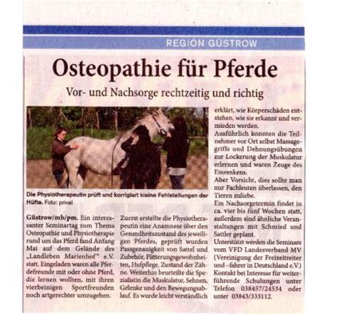 presse pferdeosteopathie  shhh und mv