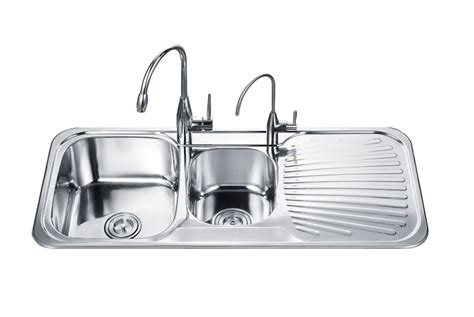 Double Bowl With Drainboard