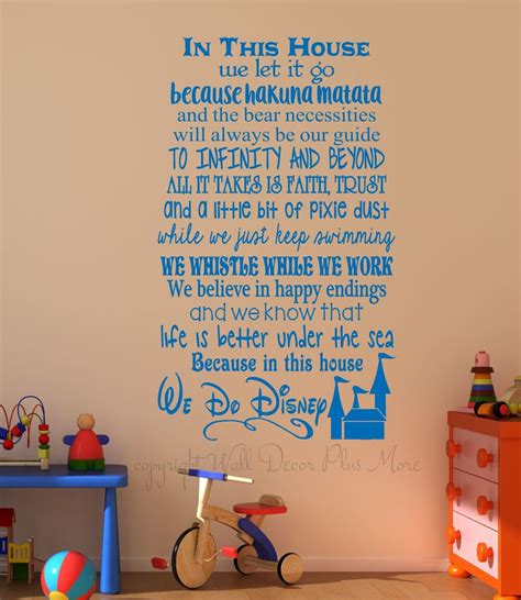 home wall decor stickers in this house we do disney wall decals letters for