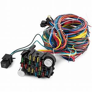 New 21 Circuit Wiring Harness Fit Chevy Mopar Ford Hotrods