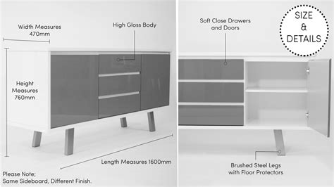 Standard Sideboard Height by Modern White Gloss Sideboard Gloss White Sideboard