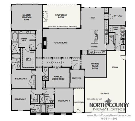 Floor Plans For New Homes by Floor Plans And New Homes For Sale In Rancho Santa Fe