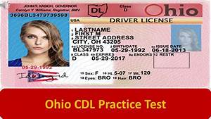 Cdl Practice Test General Knowledge Ohio