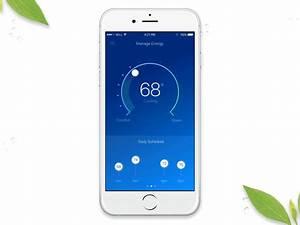 Smart Thermostat Test : exploring smart thermostat controls interactions by sam thibault dribbble ~ Frokenaadalensverden.com Haus und Dekorationen