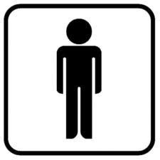 bureau informatique en verre plaque symbole toilette hommes plaque signalétique
