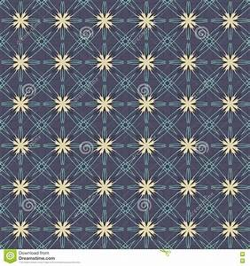 Vintage Flowers Graphic On Navy Blue Background Pattern ...