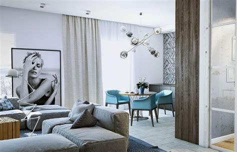 azul  blanco los colores de moda  interiores