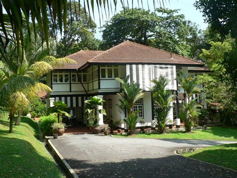 """British Colonial """"black And White"""" Bungalow, Singapore"""