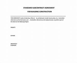 13 sample free construction contract templates to download With standard building contract template
