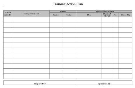 employee training plan documentation