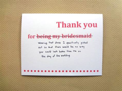 funny   card  bridesmaid wedding