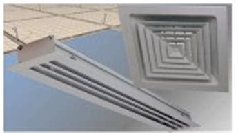 grilles diffusion d air et diffuseurs ronds gaine et faux plafond dalle