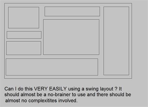 java swing layout java which layout to use to ensure fixed proportion of