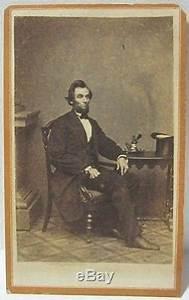 Carte De Visite Original : original civil war abraham lincoln cdv carte de visite mathew brady pose ~ Melissatoandfro.com Idées de Décoration