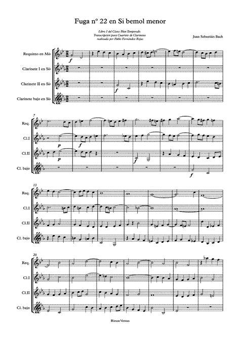 Prelude And Fugue In B Flat Minor Bwv 867 Bach Johann