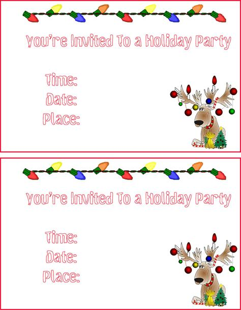printable christmas invitations free christmas cards santa claus christmas invitations