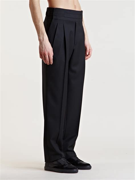side panel trousers lyst balenciaga mens high waist in black for
