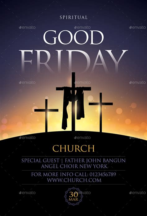 good friday flyer  sunilpatilin graphicriver