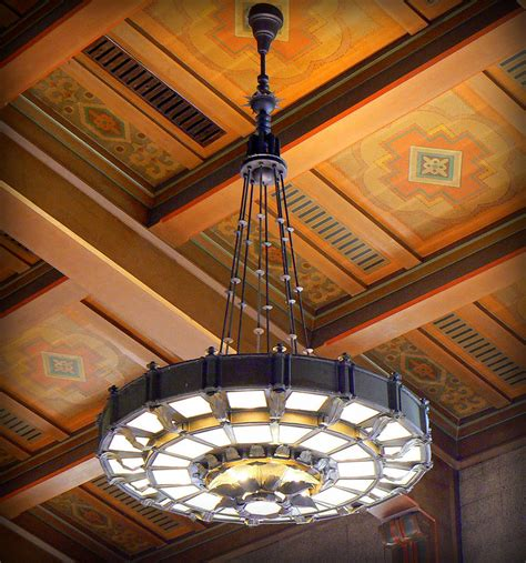 union station light fixture photograph by karyn robinson