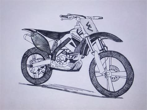 how to draw a motocross bike dirt bike drawing www imgkid com the image kid has it