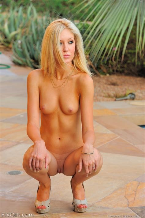Emily Kae Sexy Blonde Showing Off Her Skinny Nude Body