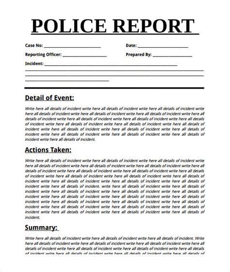 summary report template 9 summary report templates sles exles format sle templates
