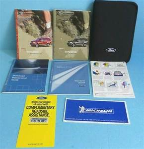 02 2002 Ford Explorer Owners Manual For Sale Online