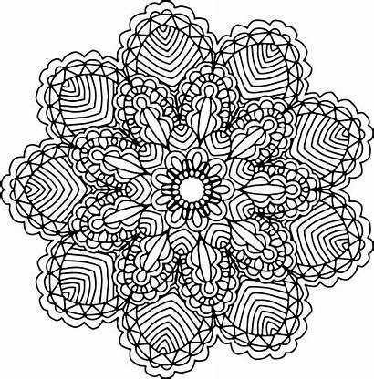 Mandala Clipart Mandalas Transparent Coloring Clip Drawing