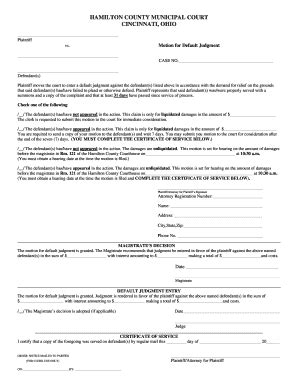 a sle subpeona form for ohio hamilton county ohio municipal court subpoena form online