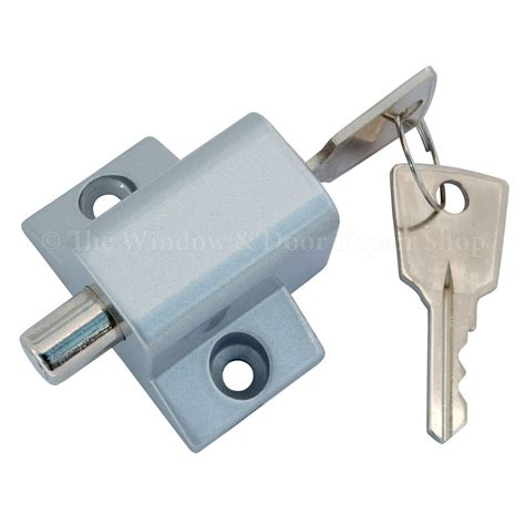 sliding patio door lock security dead bolt push key