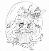 Coloring Fairy Yampuff Cupcake Deviantart Chibi Coloriage Printable Adult Frosting Anime Kawaii Drawing Draw Dessin Kleurplaten Manga Princesse Fille Bezoeken sketch template
