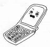 Phone Coloring Pages sketch template