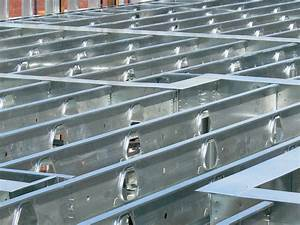 exterior structural curtain wall steel framing With structural floor joists