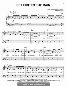 Set Fire to the Rain by Adele, F.T. Smith - sheet music on ...
