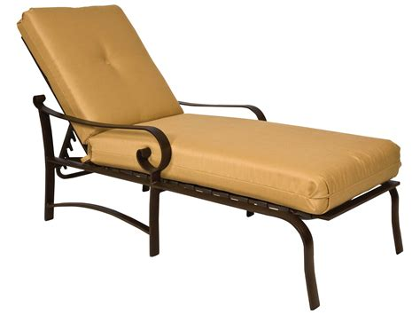 woodard belden cushion aluminum adjustable chaise lounge