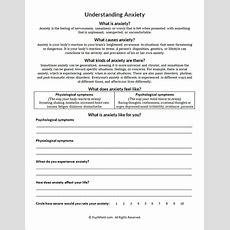 Understanding Anxiety Worksheet Psychpoint