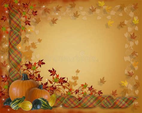 thanksgiving border autumn fall leaves stock illustration