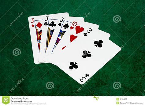 poker hands    kind jack ten  stock