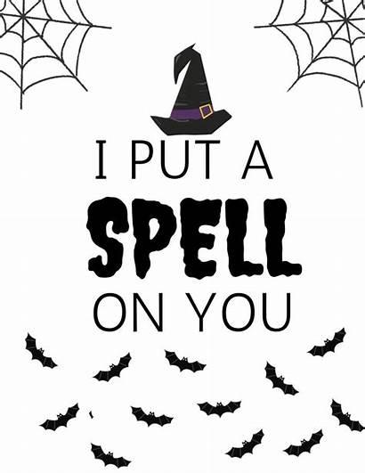 Put Printable Spell Halloween