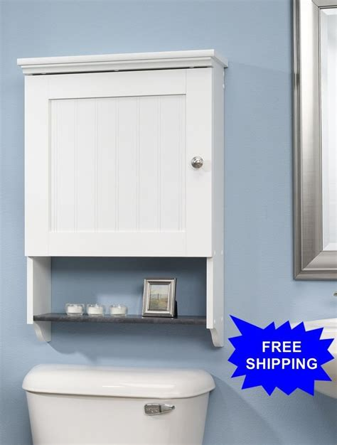 Bathroom Space Saver Wall Cabinet by Sauder Bathroom Storage 1 Shelf Wall Cabinet Soft White