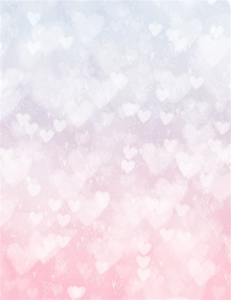 silver hearts bokeh  pink  white background