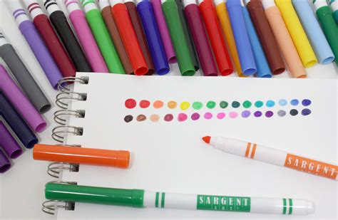 coloring with markers sargent 22 1583 30 count washable tip