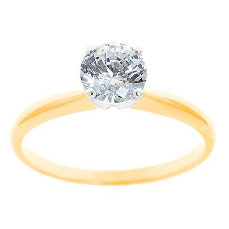 new york city diamond district 14k two tone gold 1 3 ct