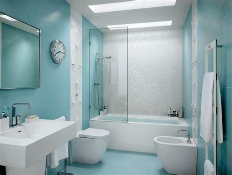 azulejos  banos de color celeste banos pinterest
