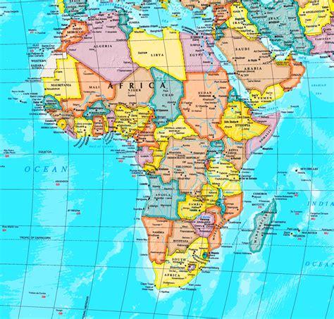 afrika karte mit staedten