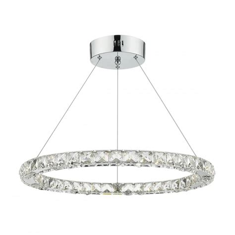 dar lighting roma single light led ceiling pendant in