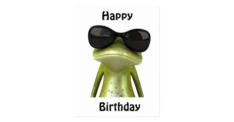 Cool Happy Birthday Picture by Happy Birthday Cool Frog Postcard Zazzle Co Uk